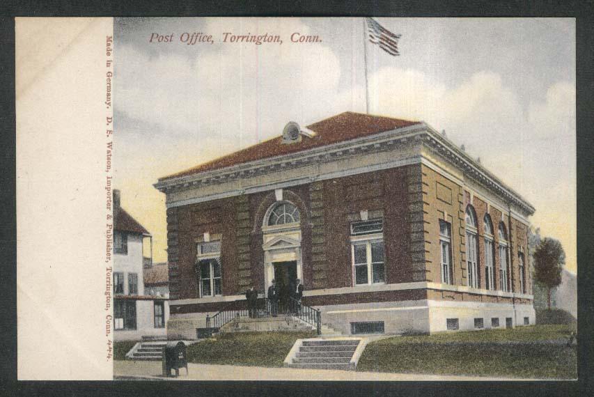 Post Office Torrington CT postcard 1910s