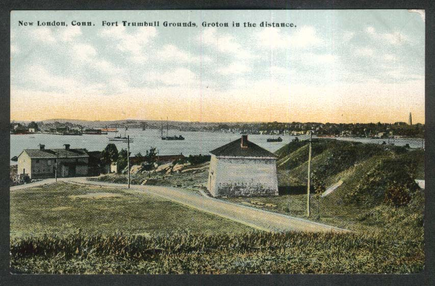 Fort Trumbull Grounds New London CT postcard 1910s