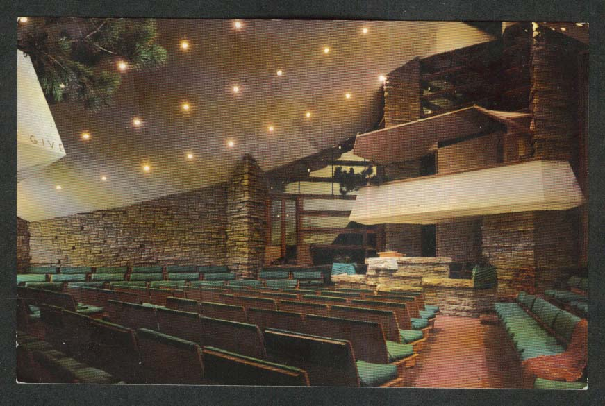 Auditorium First Unitarian Society Meeting House Madison WI postcard 1960s