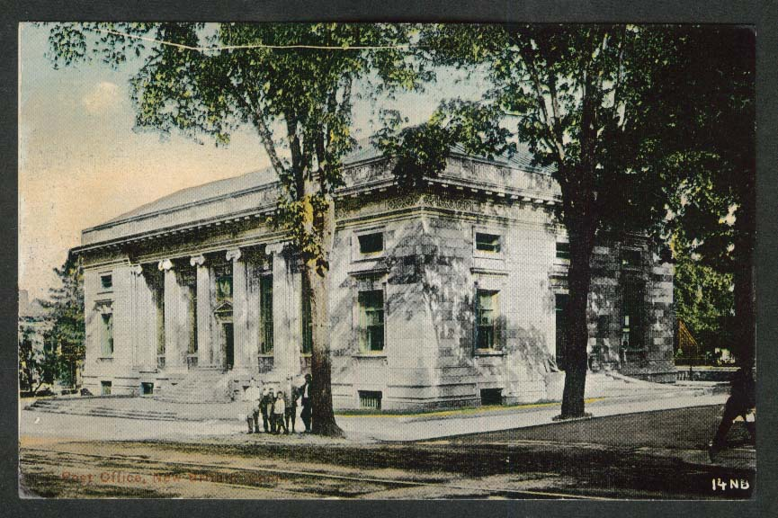 Post Office New Britain CT postcard 1910s