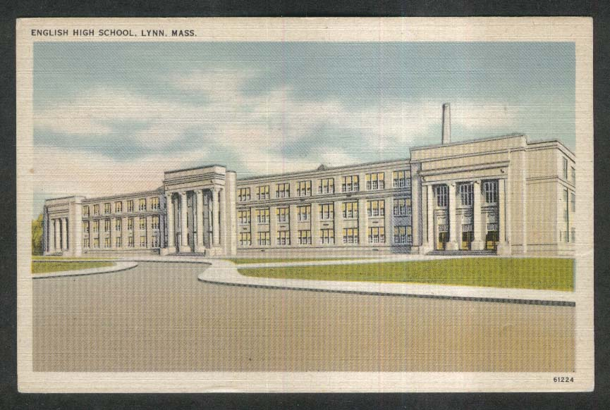 English High School Lynn MA postcard 1930s