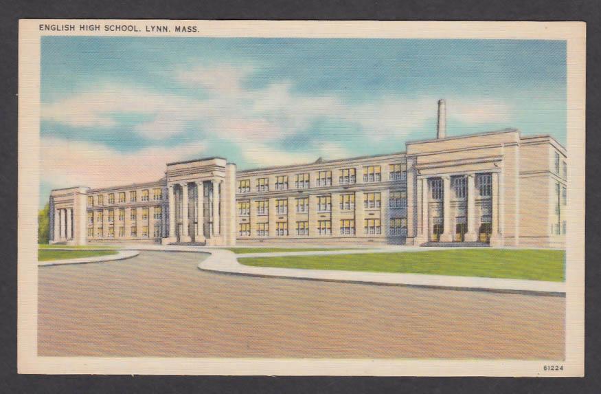 English High School Lynn MA postcard 1930s