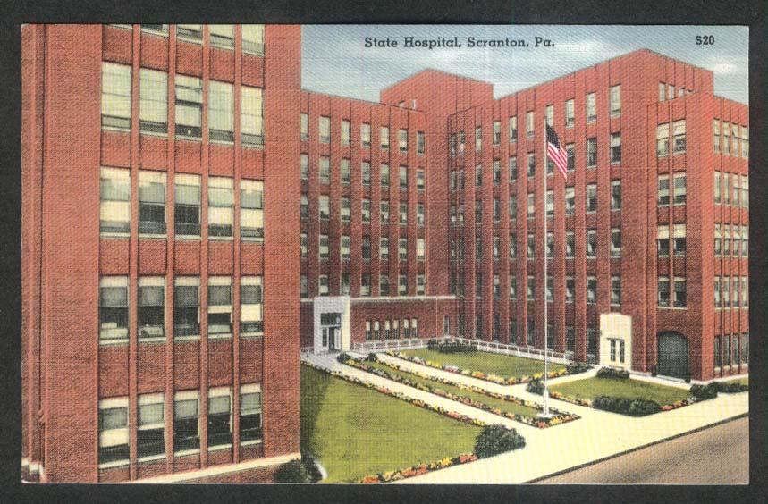State Hospital Scranton PA postcard 1930s