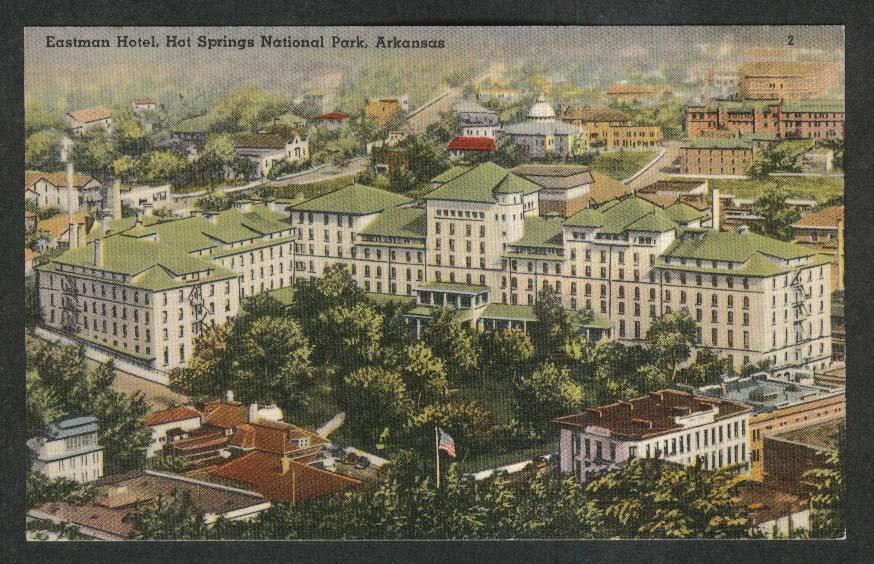 Eastman Hotel Hot Springs National Park AR postcard 1930s