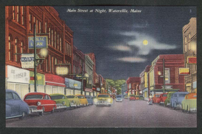 RCA Victor Butler's Beauty Main Street Waterville ME postcard 1940s