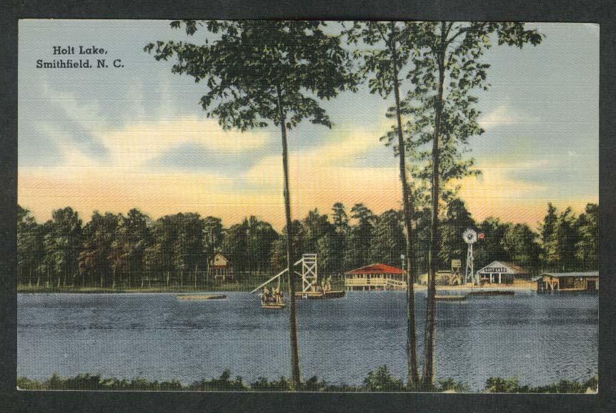 Holt Lake Smithfield NC postcard 1930s