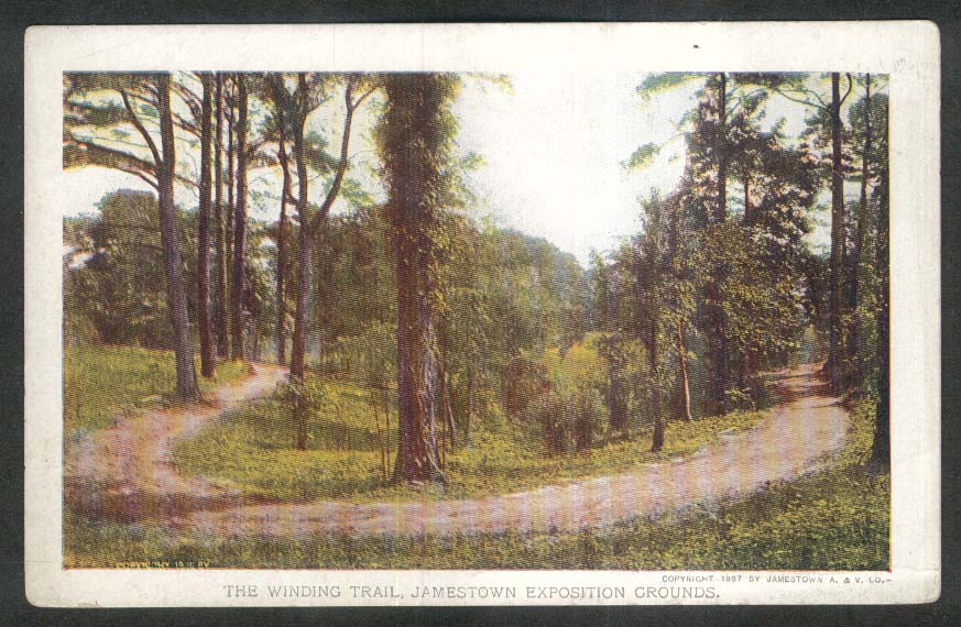 Jamestown Exposition 1907 postcard Winding Trail