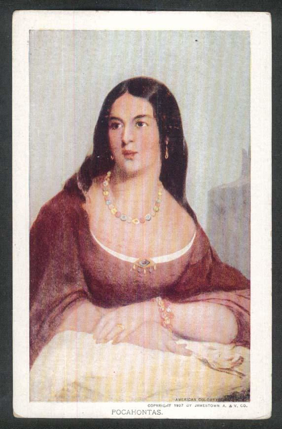 Jamestown Exposition 1907 postcard Pocahontas
