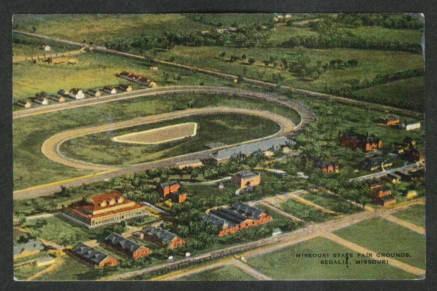 Missouri State Fair Grounds Sedalia MO postcard 1930s