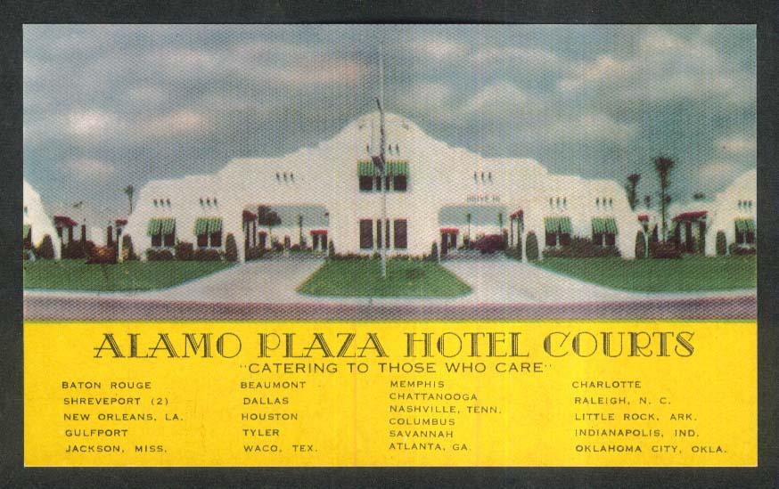 Alamo Plaza Hotel Courts TX postcard 1920s