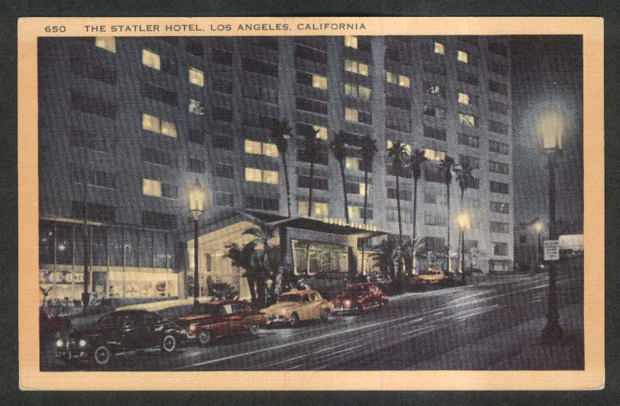 The Statler Hotel Los Angeles CA postcard 1940s