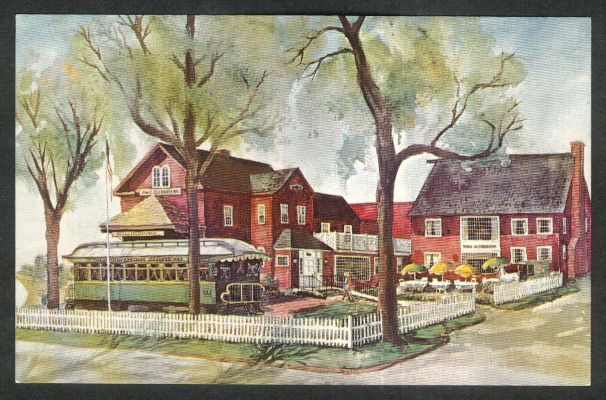 Yankee Silversmith Inn Parlour Car Country Store Wallingford CT postcard 1960s