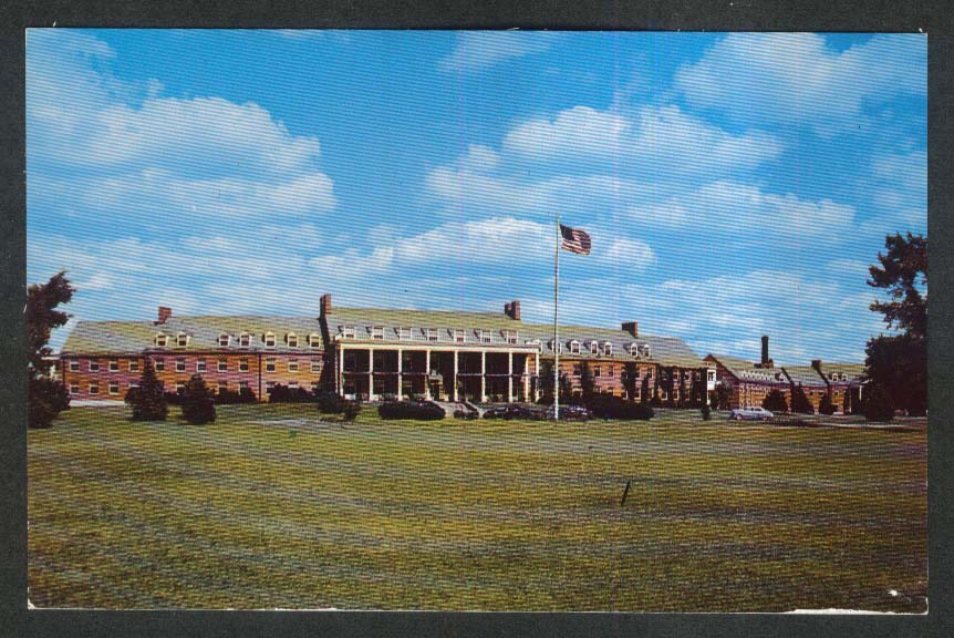 Michigan Masonic Home & Hospital Alma MI postcard 1950s