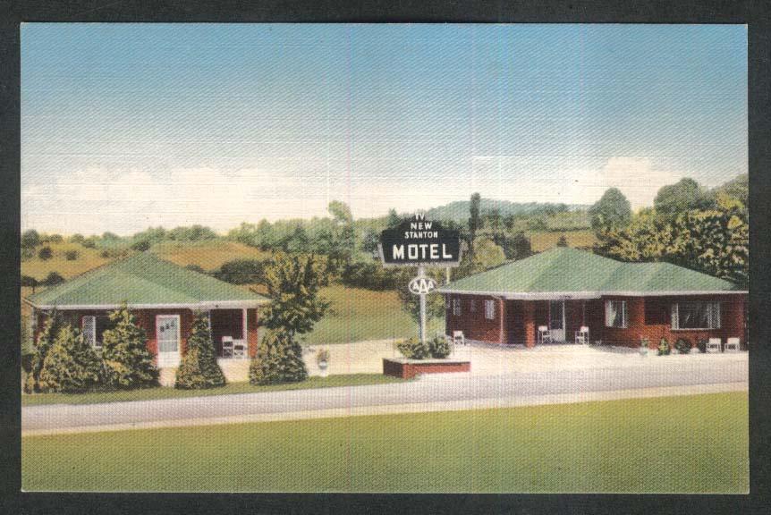 New Stanton Motel New Stanton PA postcard 1930s
