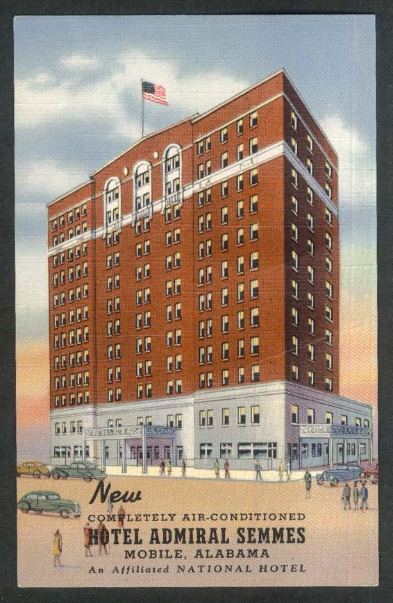 Hotel Admiral Semmes Mobile AL postcard 1930s