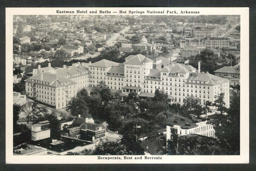 Eastman Hotel & Baths Hot Springs National Park AR postcard 1940s