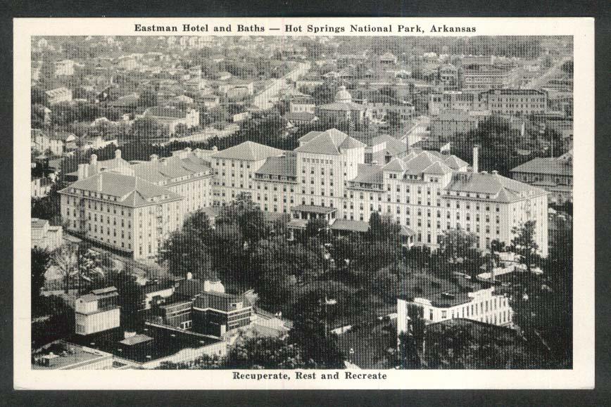 Eastman Hotel & Baths Hot Springs National Park AR postcard 1940s