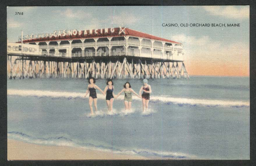 Casino Old Orchard Beach ME postcard 1930s