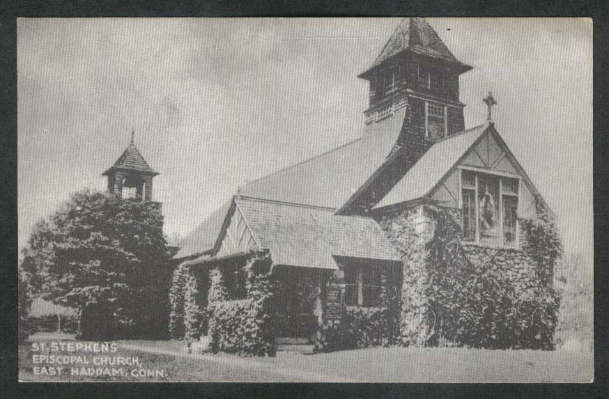 St Stephen's Episcopal Church East Haddam CT postcard 1940s