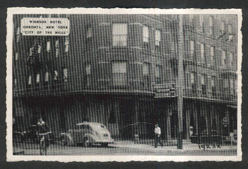 Windsor Hotel Oneonta NY postcard 1930s