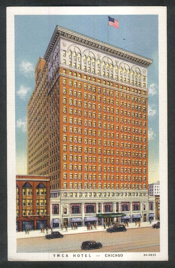 YMCA Hotel 826 South Wabash Chicago IL postcard 1930s
