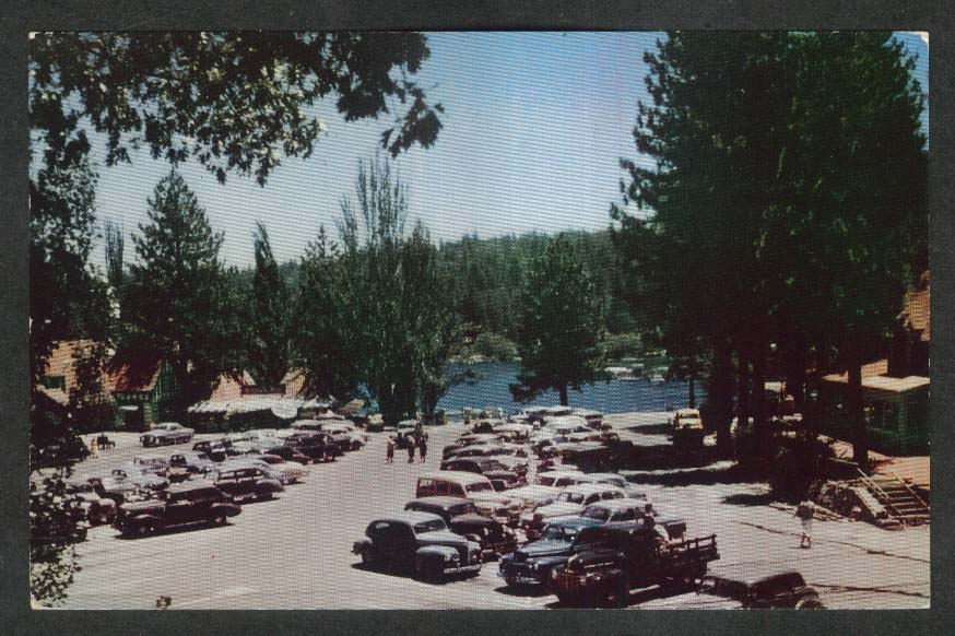Lake Arrowhead Village CA postcard 1950s