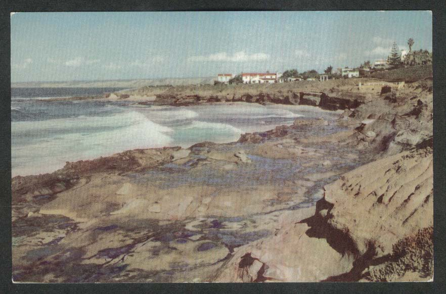 La Jolla Beach CA Union Oil Company postcard #4 1940
