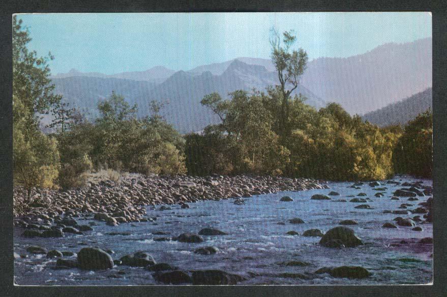 Kaweah River Sequoia National Park CA Union Oil Company postcard 1950s