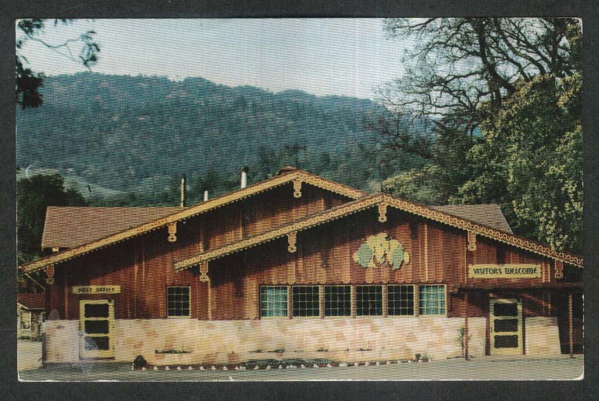Exterior View of Tasting Room Italian Swiss Colony Winery CA postcard 1960s