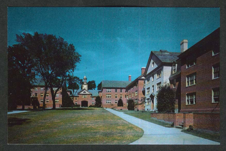 New Quadrangle Brown University Providence RI postcard 1950s