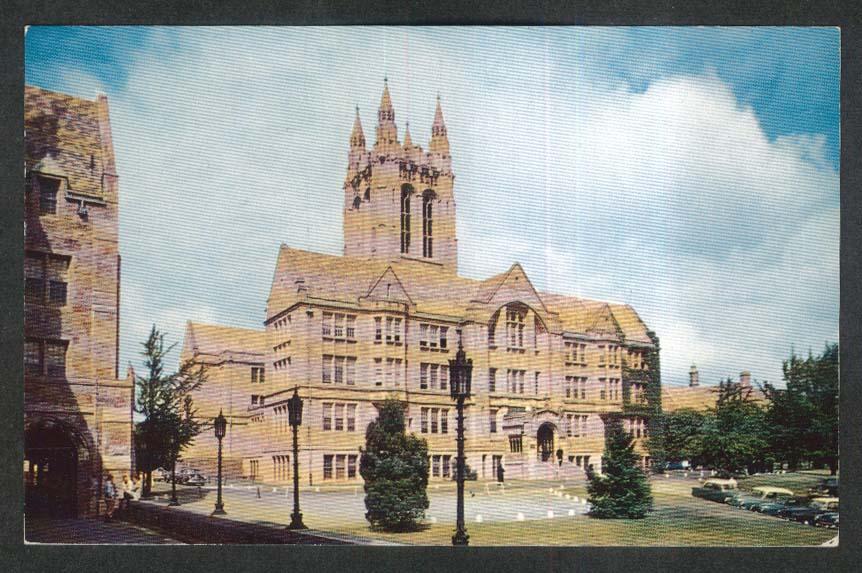 Campus View Boston College MA postcard 1950s