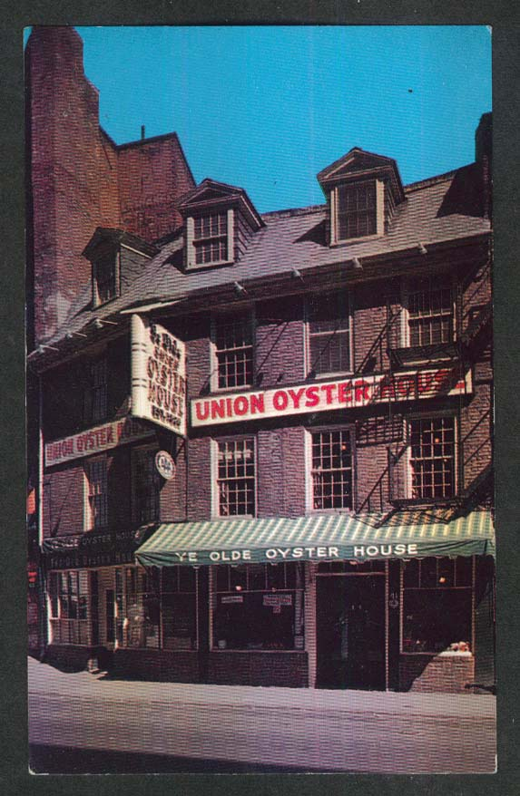 Union Oyster House 41 Union St Boston MA postcard 1950s