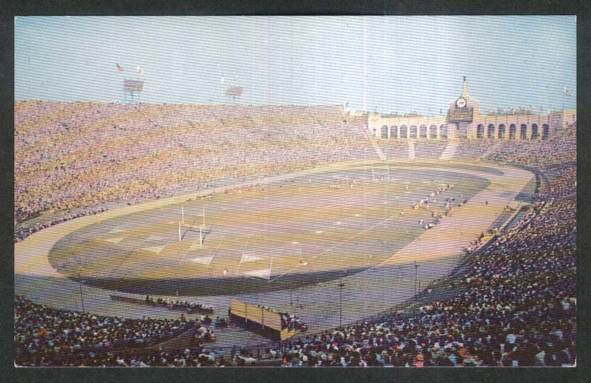 Los Angeles Memorial Coliseum CA postcard 1950s