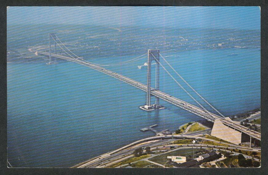 Verrazano-Narrows Bridge New York City NY postcard 1960s