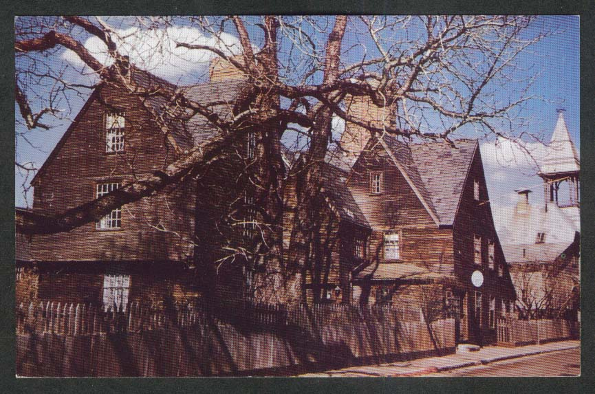 House of the Seven Gables Salem MA postcard 1950s