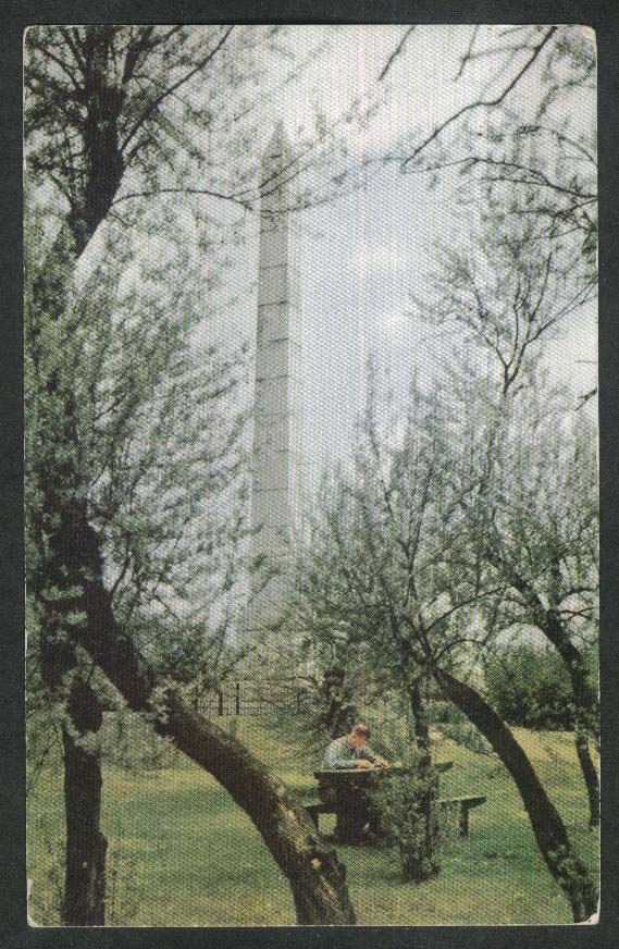 Fort Meigs Monument OH postcard 1950s