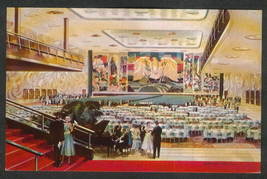 Sheraton Hall Sheraton-Park 1660 Connecticut Avenue Washington DC postcard 1950s