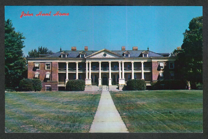 John Hunt Home South Main Street Nashua NH postcard 1950s