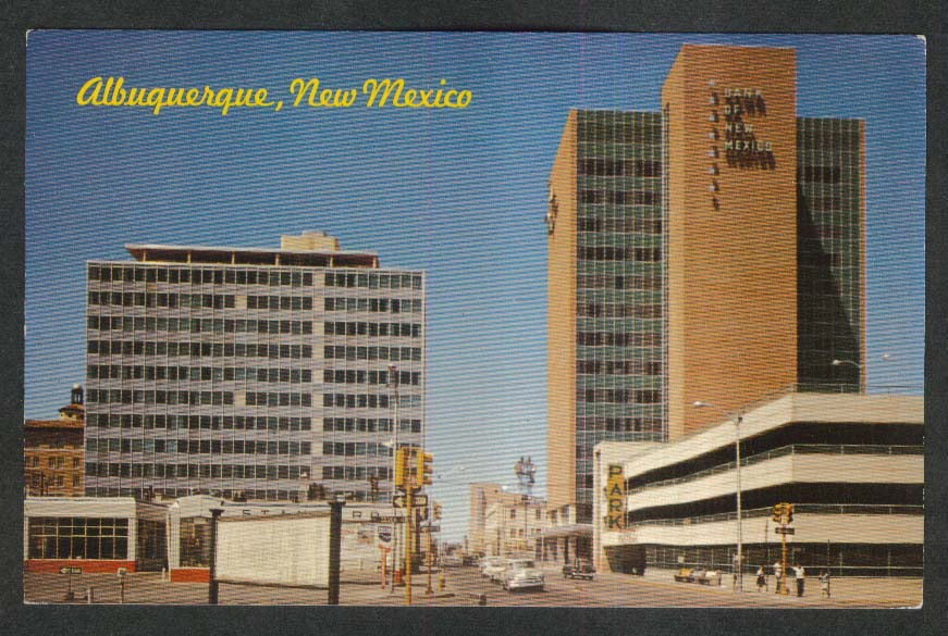 Simms Building Bank of New Mexico Fourth Street Albuquerque NM postcard 1960s
