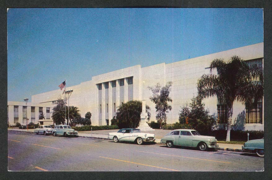 Hillsborough County Court House Tampa FL postcard 1950s