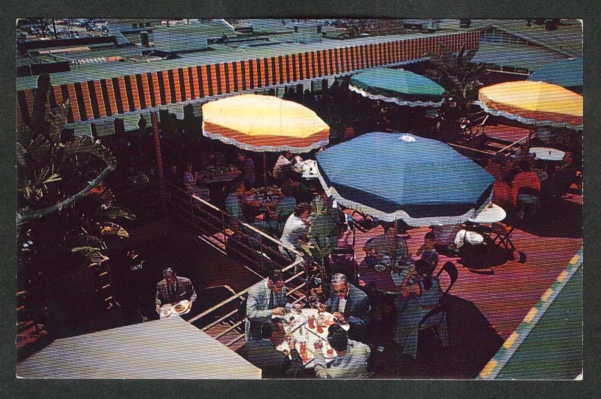 Farmers Market Los Angeles CA postcard 1950s