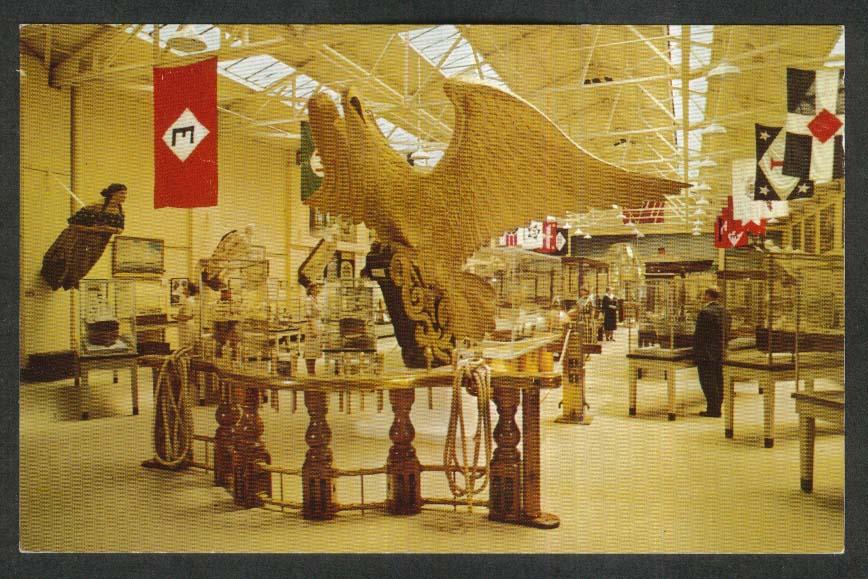 Eagle Figurehead Mariners Museum Newport News VA postcard 1950s