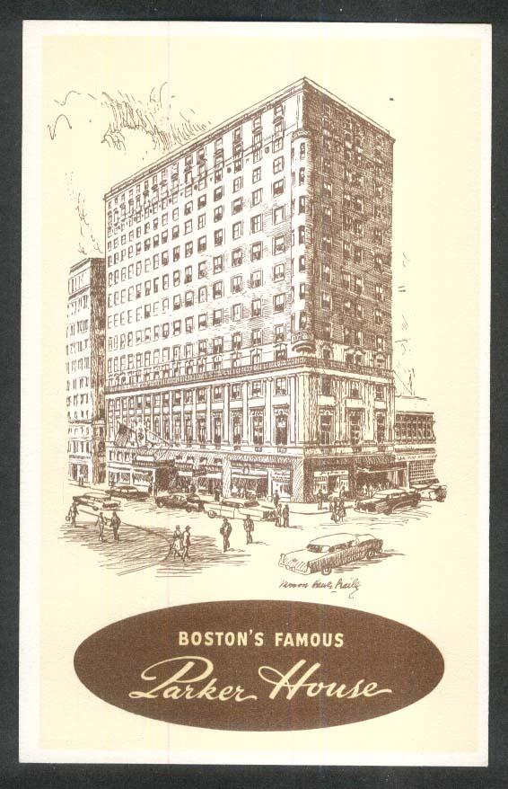 Parker House Boston MA postcard 1950s
