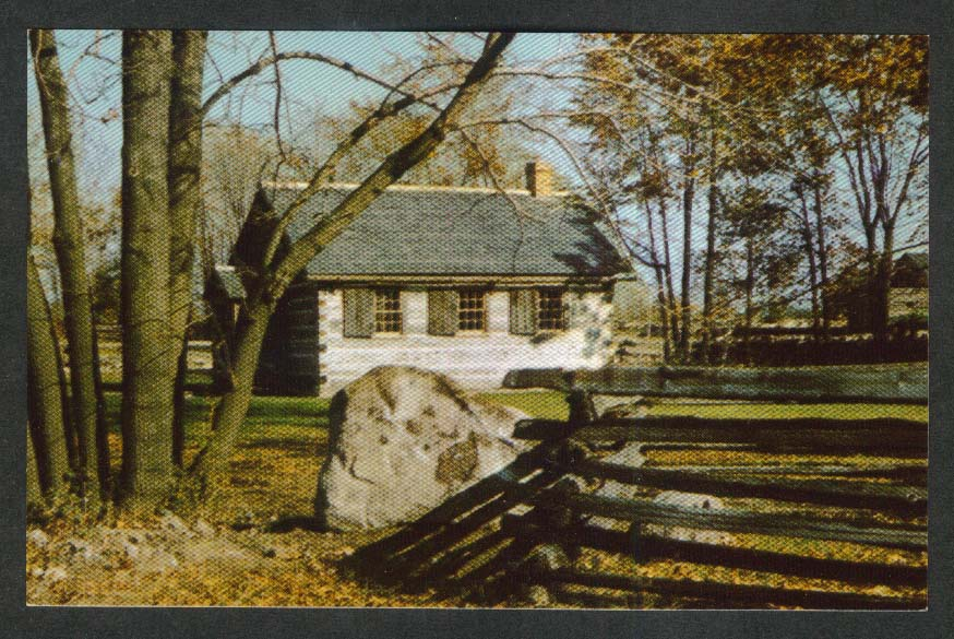 Upper Canada Village Glengarry School Days Ontario Canada postcard 1950s