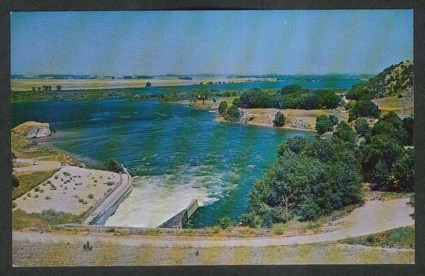 Keowee Dam Spillway & Valley SC postcard 1970s