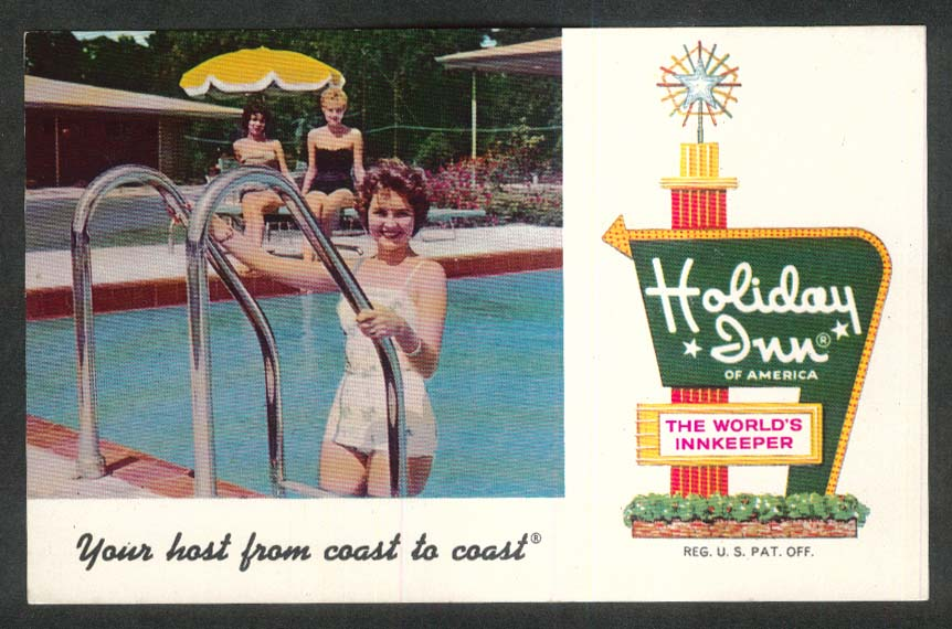 Holiday Inn Gainesville Northwest Alachua FL postcard 1950s