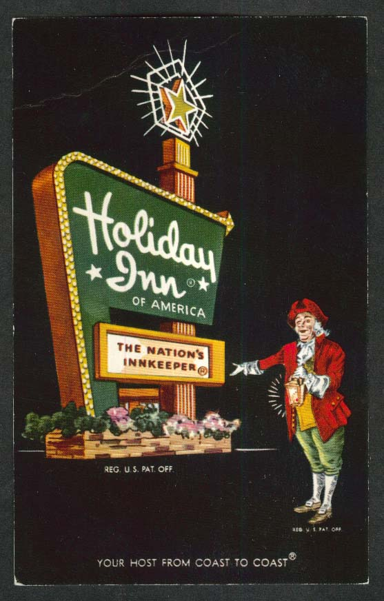 Holiday Inn 1614 Central Ave Albany NY postcard 1960s