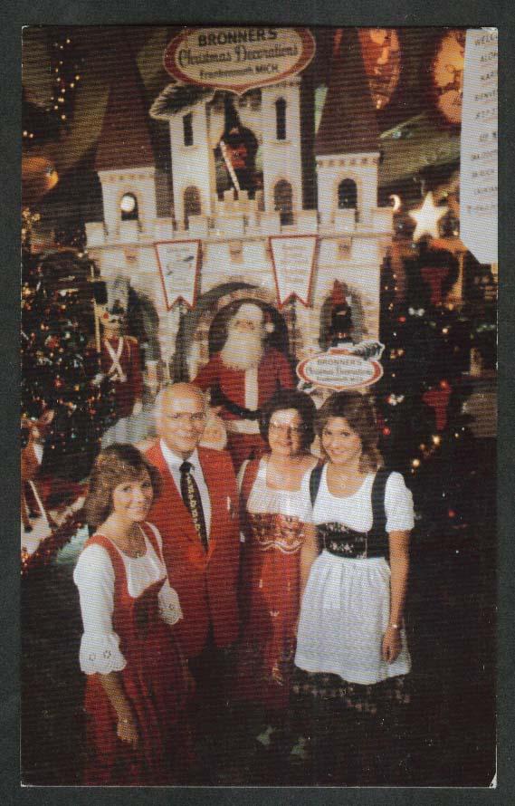 Bronner's Family Christmas Wonderland Frankenmuth MI postcard 1970s