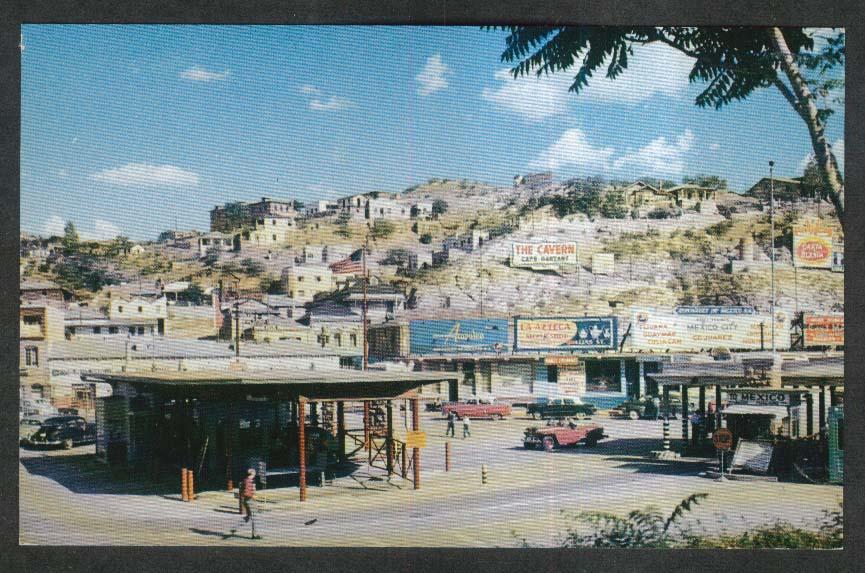 Acapulco Cavern Azteca Mexico Boundary Nogalez AZ postcard 1950s