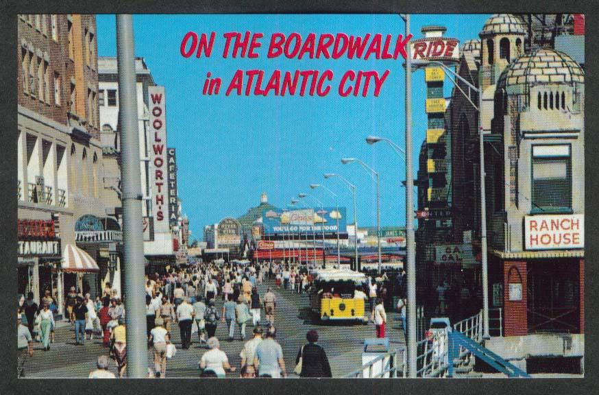 Woolworth's Cageteria Steel Pier Boardwalk Atlantic City NJ postcard 1960s